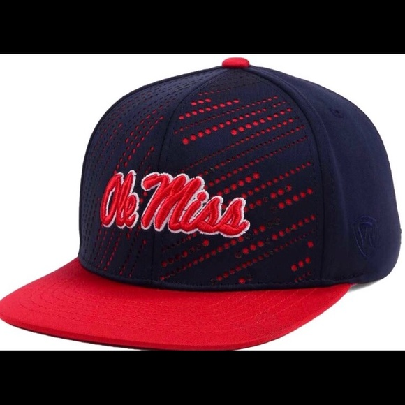 895fa4db5b9 Ole Miss Rebels Sun Breaker SnapBack Hat NWT